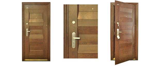 Drzwi LABRADOOR do mieszkań STALOWE S 8086 ciemne