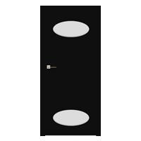 Drzwi Interdoor Andora 2 Nero Glossa przylgowe