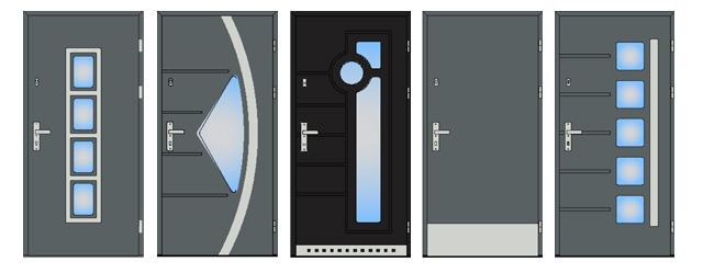 Drzwi drewniane DZIADEK TYMAWA 68 z aplikacją stalową