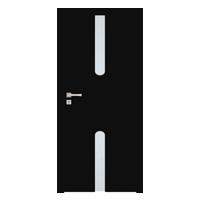 Drzwi Interdoor Allande 2 Nero Glossa przylgowe