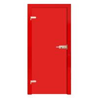 Drzwi szklane Interdoor FOLIA RED tafle z folią